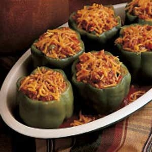 Meat Loaf Stuffed Peppers Recipe
