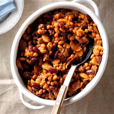 Three Bean Baked Beans Recipe
