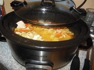 Homemade Chicken Soup In A Slow Cooker Recipe
