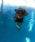 relaxing time in pool
