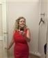 having fun checking out this designer dress by calvin klein
