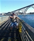 Crabbing off Newport Oregon pier last month