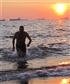 Swimming at Sunset Beach Sept evening 2014