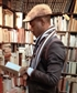 Me Rummaging around the bibliotheque in Paris