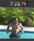 Me Chilling in the pool close to the Carribean sea
