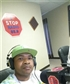 Being interviewed a radio station