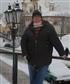 Snowstorm in Prague