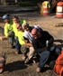 """Third guy from front! I do construction an we thought we'd try out for a new bobsledding team """"joke"""" on a piece of water pipe. Boy if boss would of seen us!! ?? lol"""
