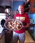 Baking muffins for kids in Belize