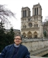 Bridge over Sena river and Notre Dame cathedral at the back Paris France