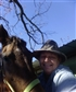 My horse Josie and me.
