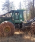 This is the John Deere skidder the company has that I work for.