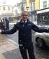 Outside work in snowy day