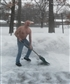 Don't want to overheat while shoveling the walkway!
