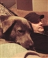 My best friend Grizz and I, relaxing on the couch........