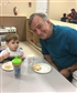 With my grandson, in his class