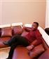 relaxing in living room