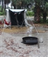 Camping in Florida during a bad storm I do like that tent
