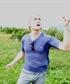 dramatically singing on a German mountain