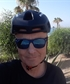 Cycling along the beach in Mojacar