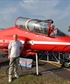 At the Royal International Air Tattoo show a few years ago Was thinking of going for a short spin in the Red Arrows Hawk