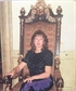 This was taken a few years ago me in my Queen chair Ha