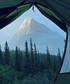 Favorite campsite upon a mountain top
