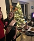 My Spanish friend and myself celebrating the Christmas season me after moving in at the time and her Birthday
