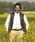 Amidst Fascinating beauty of Countryside Farmland yellow mustard farm sunny winter afternoon