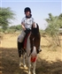 me again on Munmun my horse - notice how my head is on one side - always done that since I was a kid!!