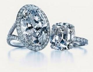 Tiffany Oval Diamond Ring U2013 $1.465 Million (left) U2013 $800,000 (right)